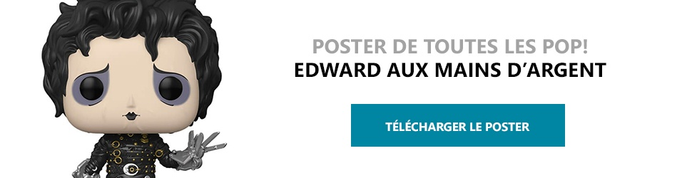 Poster Figurines POP Edward aux mains d'argent