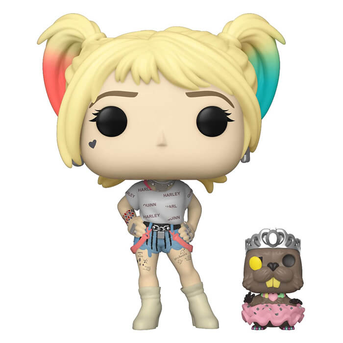 Figurine Funko POP Harley Quinn avec son castor (Birds of Prey)