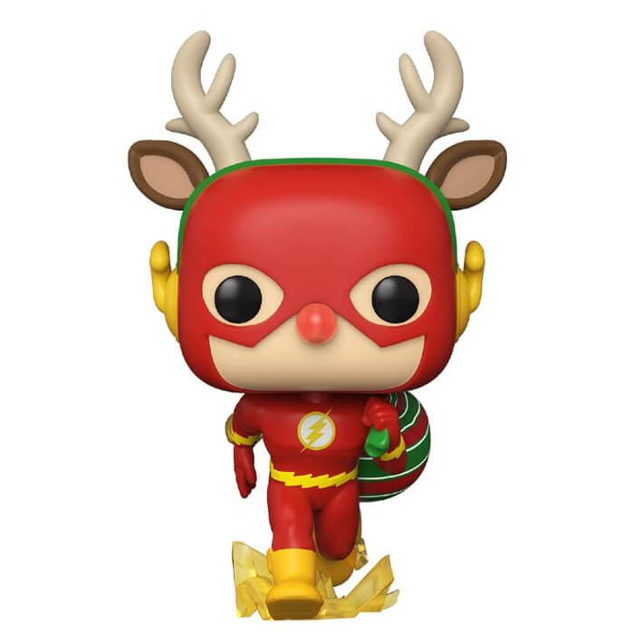 Figurine Funko POP Flash en renne de Noël (DC Comics)