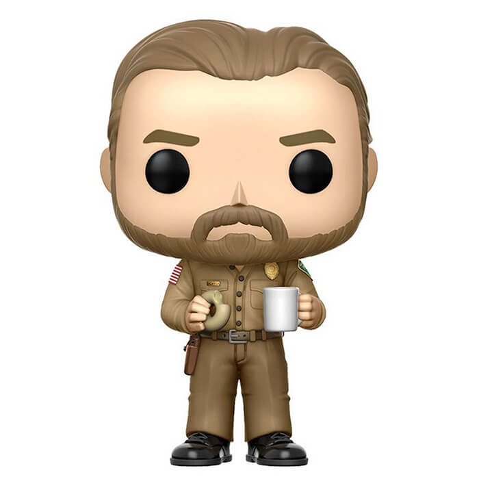 Figurine Funko POP Jim Hopper avec un donut (Chase) (Stranger Things)