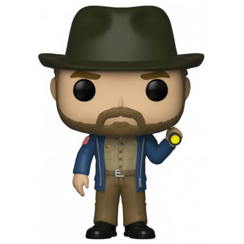 Figurine Funko POP Hopper avec sa lampe torche (Stranger Things)