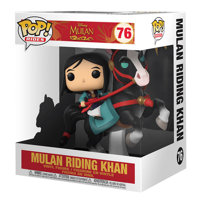 Mulan chevauchant Khan