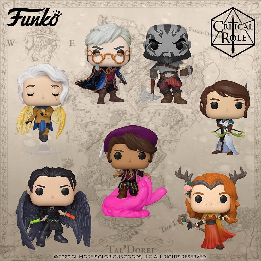 Personnages de Critical Role VOx Machina en POP