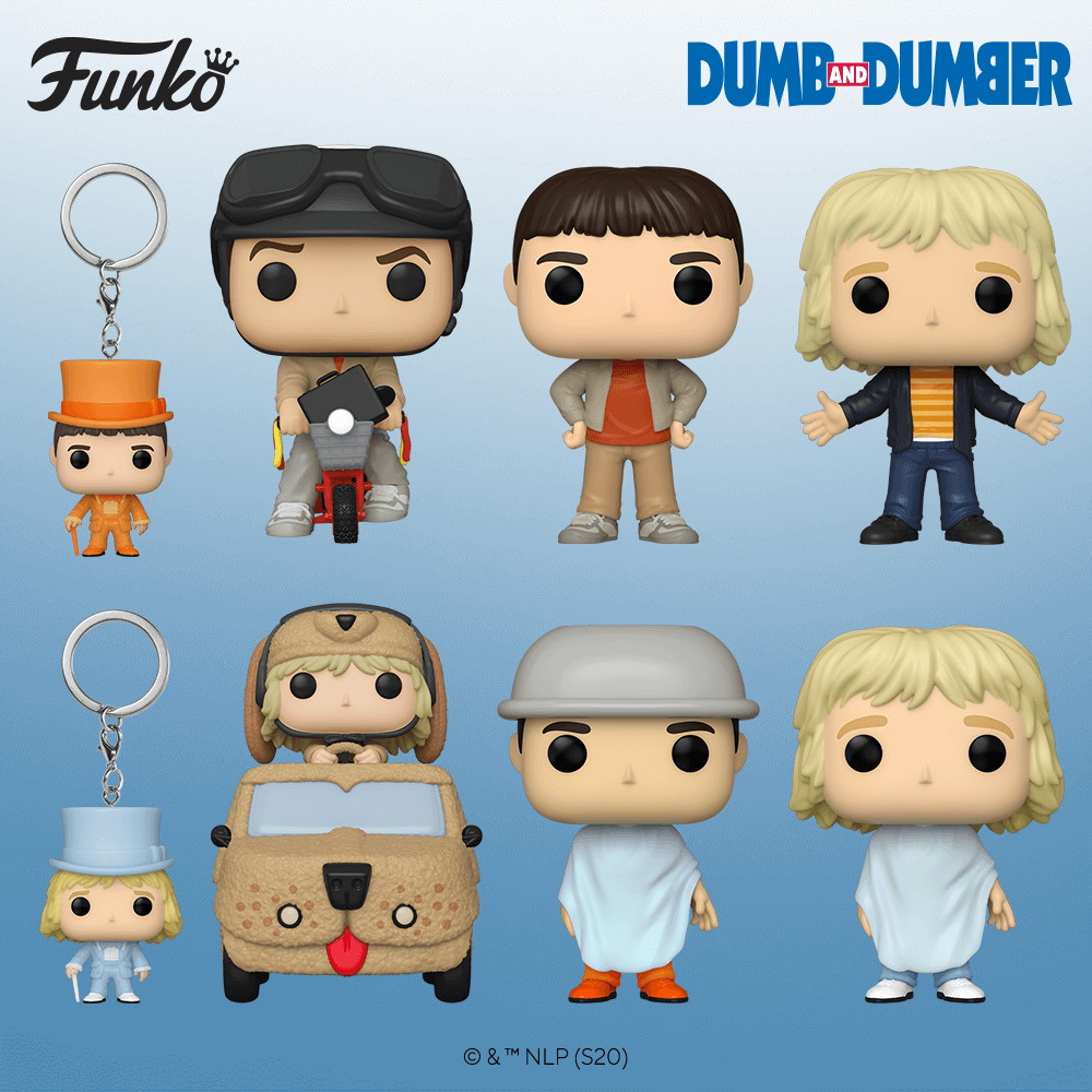 Les figurines POP du film Dumb & Dumber