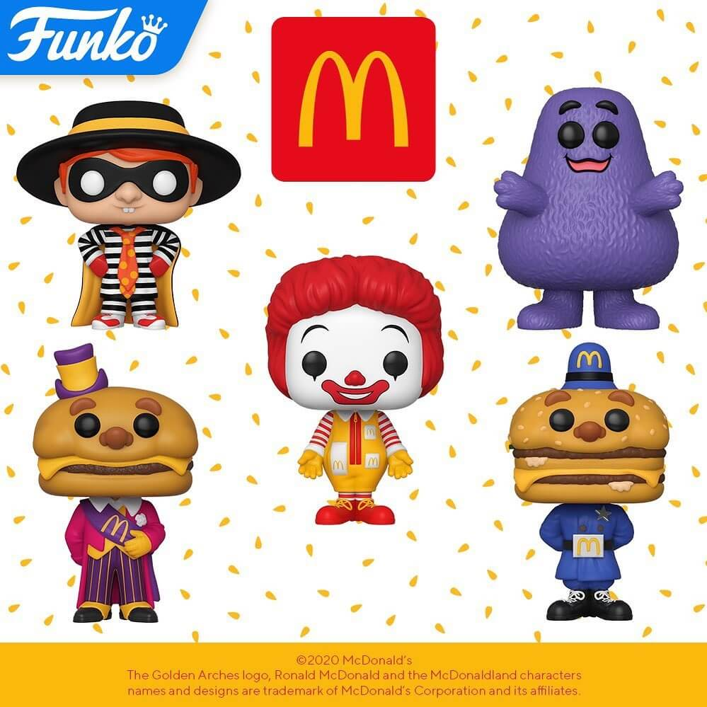 Funko révèle 5 figurines POP Ad Icons de Mc Donald's
