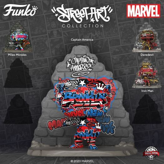 Captain America en Funko POP! Street Art