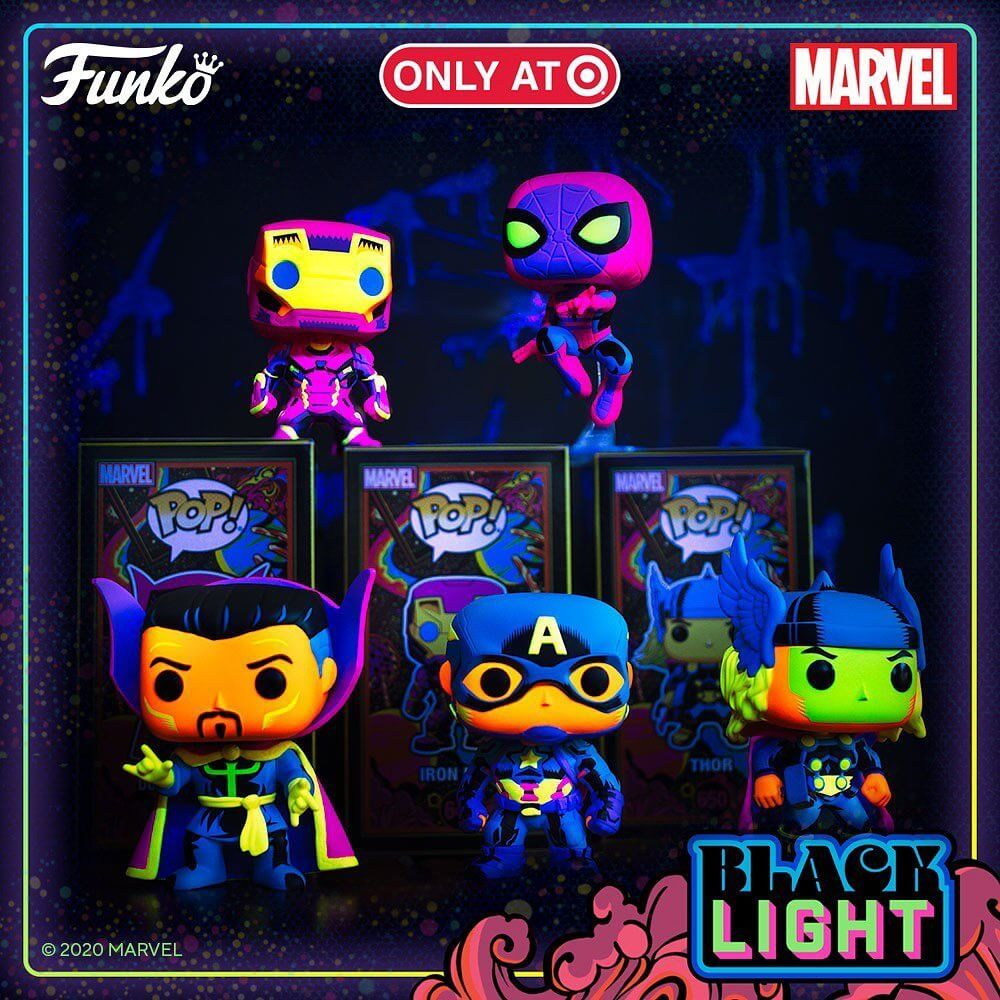 De nouvelles POP Marvel en Black Light